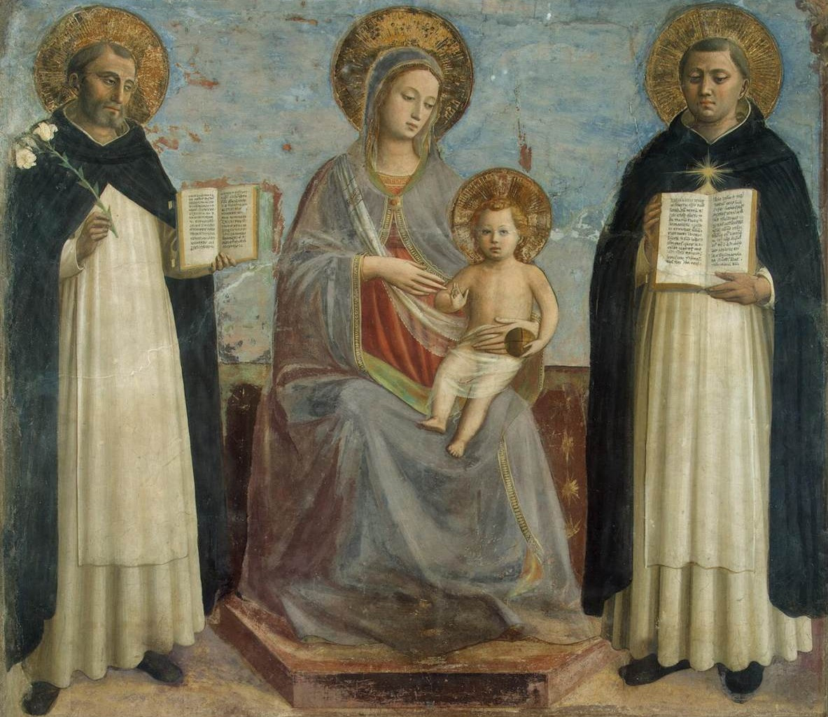 St Thomas with St Dominic and Virgin and Child by Fra Angelico
