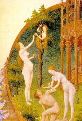The Temptation from the Très Riches Heures du Duc de Berry