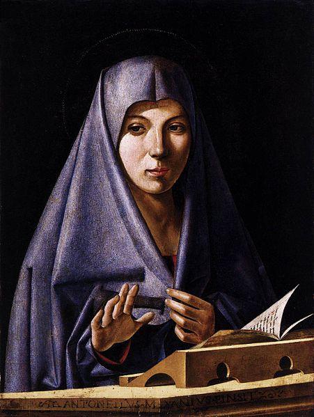 Virgin Annunciate by Antonio de Saliba