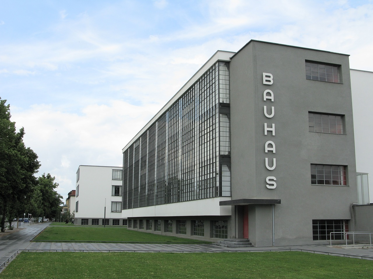 This is in Austria. Both Bauhaus and Schoenberg date from the period around the turn of the 20th century.