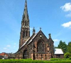 An example of a Pugin church. St Giles Cheadle, Staffordshire, England