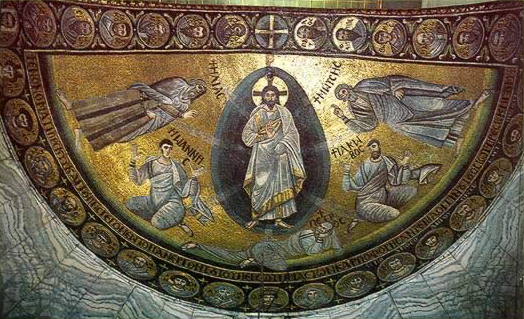 The Transfiguration mosaic from St Catherine's Monastery, Mt Sinai