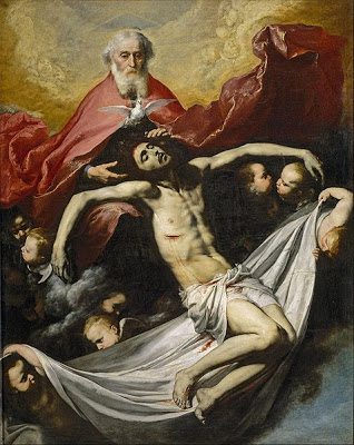 The Holy Trinity by Jose de Ribera, painted 1635