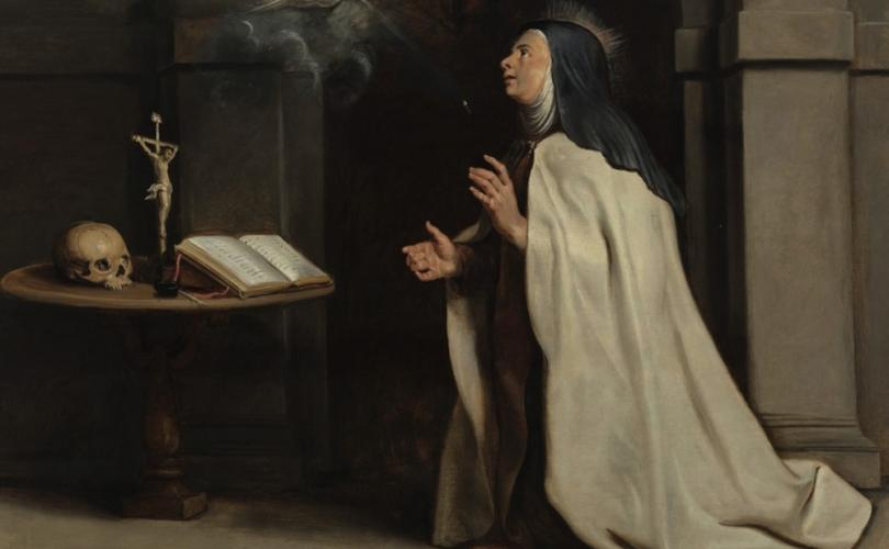 Painting by Peter Paul Rubens, a Carmeite nun.