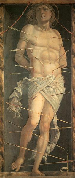 Saint Sebastian, by Mategna, public domain