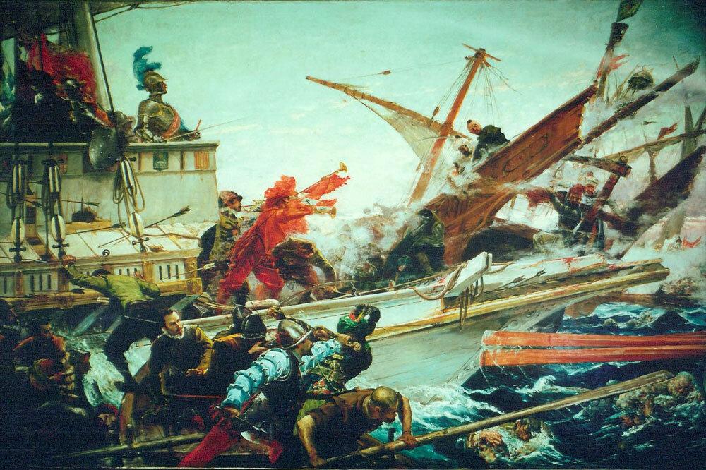 The Battle of Lepanto, public domain