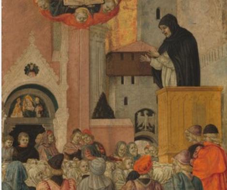 A Dominican Preaching:  Agnolo degli Erri  Italian, (Emilian), active 1440s - 1497