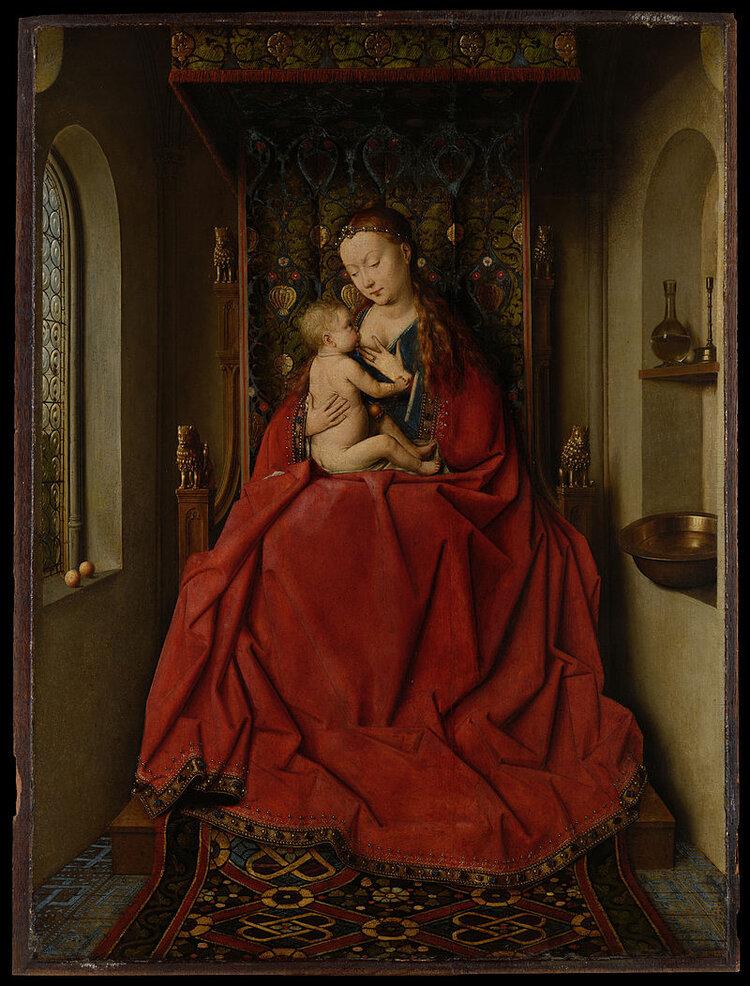 De Lucca Madonna van Jan Van Eyck, Vlaams, 15e eeuw. Het is de liefde van een ouder voor het kind waardoor ze de schoonheid van een baby kan zien op een manier die anderen niet zien. Alle mensen zijn op grond van onze menselijkheid zo mooi als een baby, en het is ons gebrek aan liefde voor anderen dat ons vermogen beperkt om het te zien. Niettemin is de erkenning van de schoonheid van de hele persoon een ideaal waar we naar kunnen streven, hoe moeilijk het ook is om te bereiken.