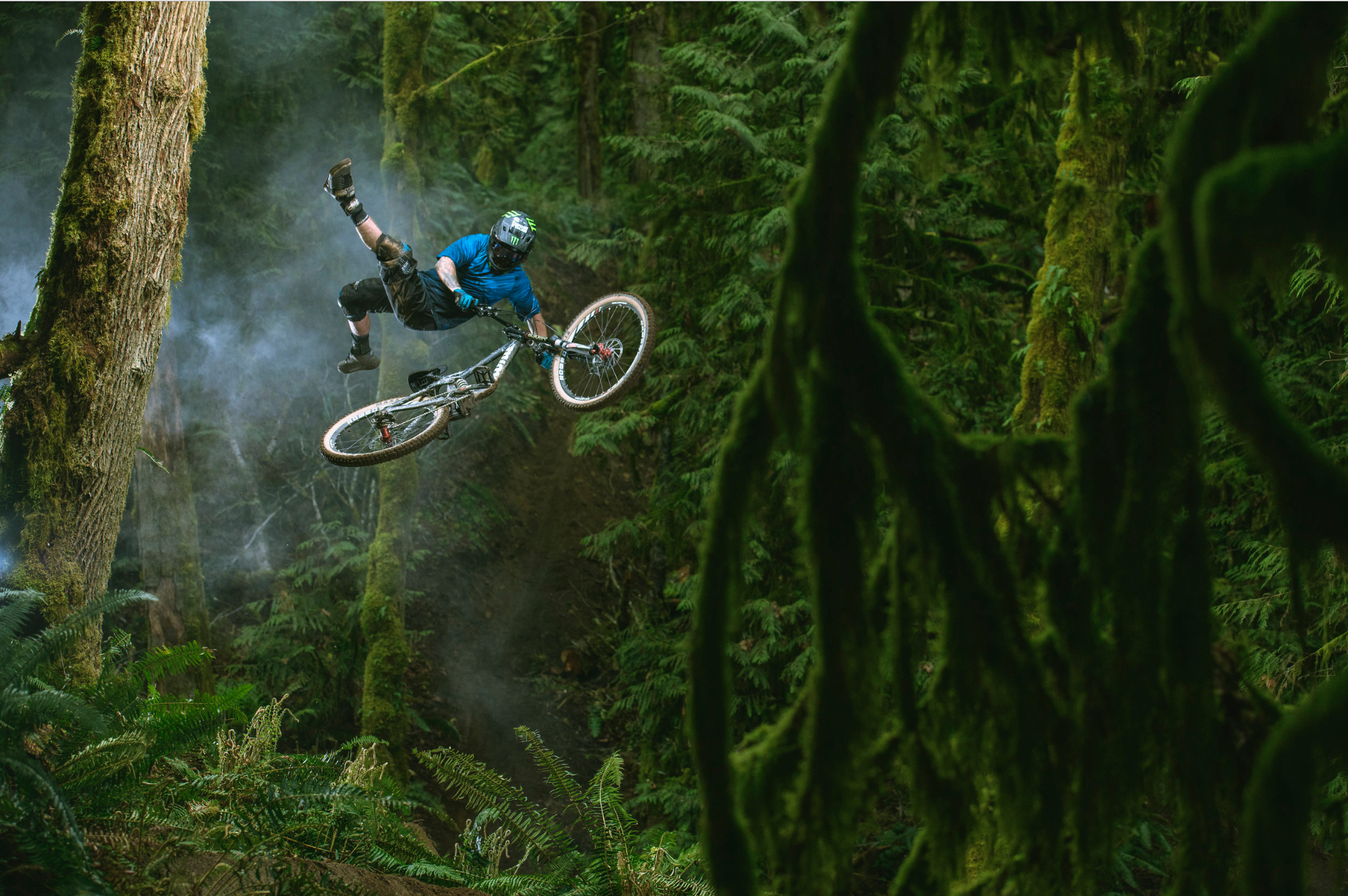 When technology, nature, an extremely talent mountain biker and a brilliant photographer converge... results like this happen. Photo: Paris Gore // Rider: Graham Agassiz