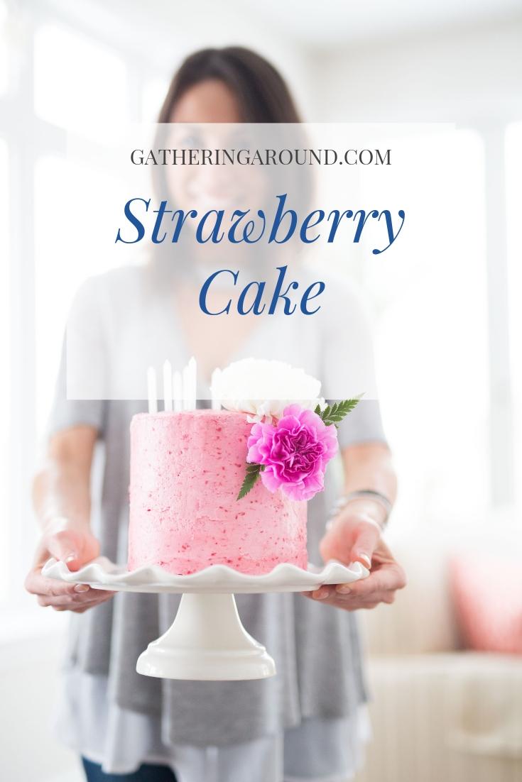 Grandmother's Strawberry Cake