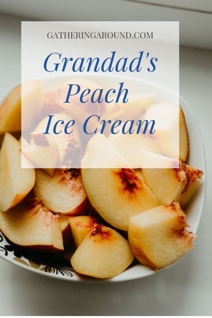Grandad's Peach Ice Cream