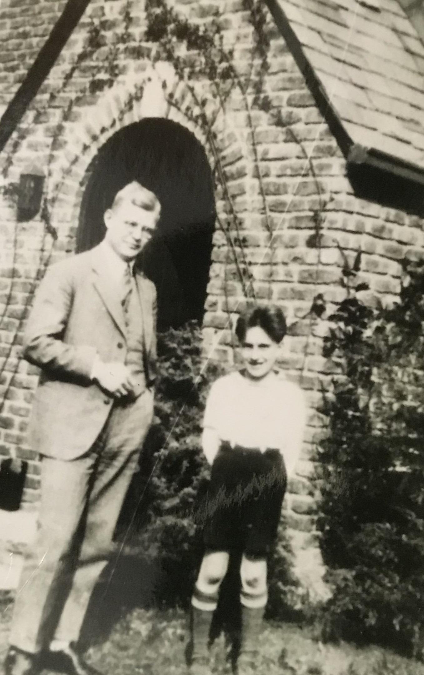 Dietrich Bonhoeffer with young Richard Ern