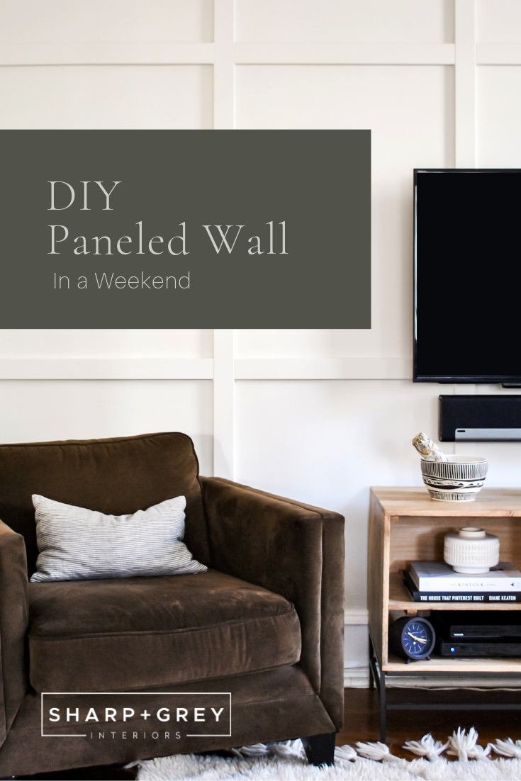 How to create a DIY paneled wall in a weekend. Sharp + Grey Interiors