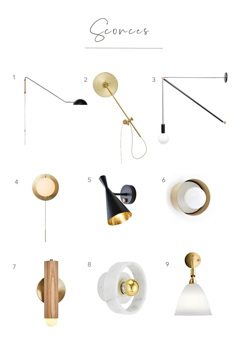 Sharp + Grey Interiors round-up of favorite statement sconces from HORNE that will elevate any space in your home