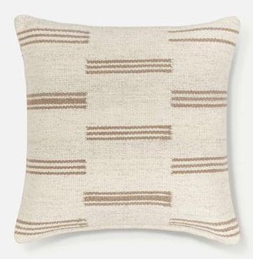 Sharp + Grey Interiors September Favorites. Strip Break Pillow by Sarah Sherman Samuel