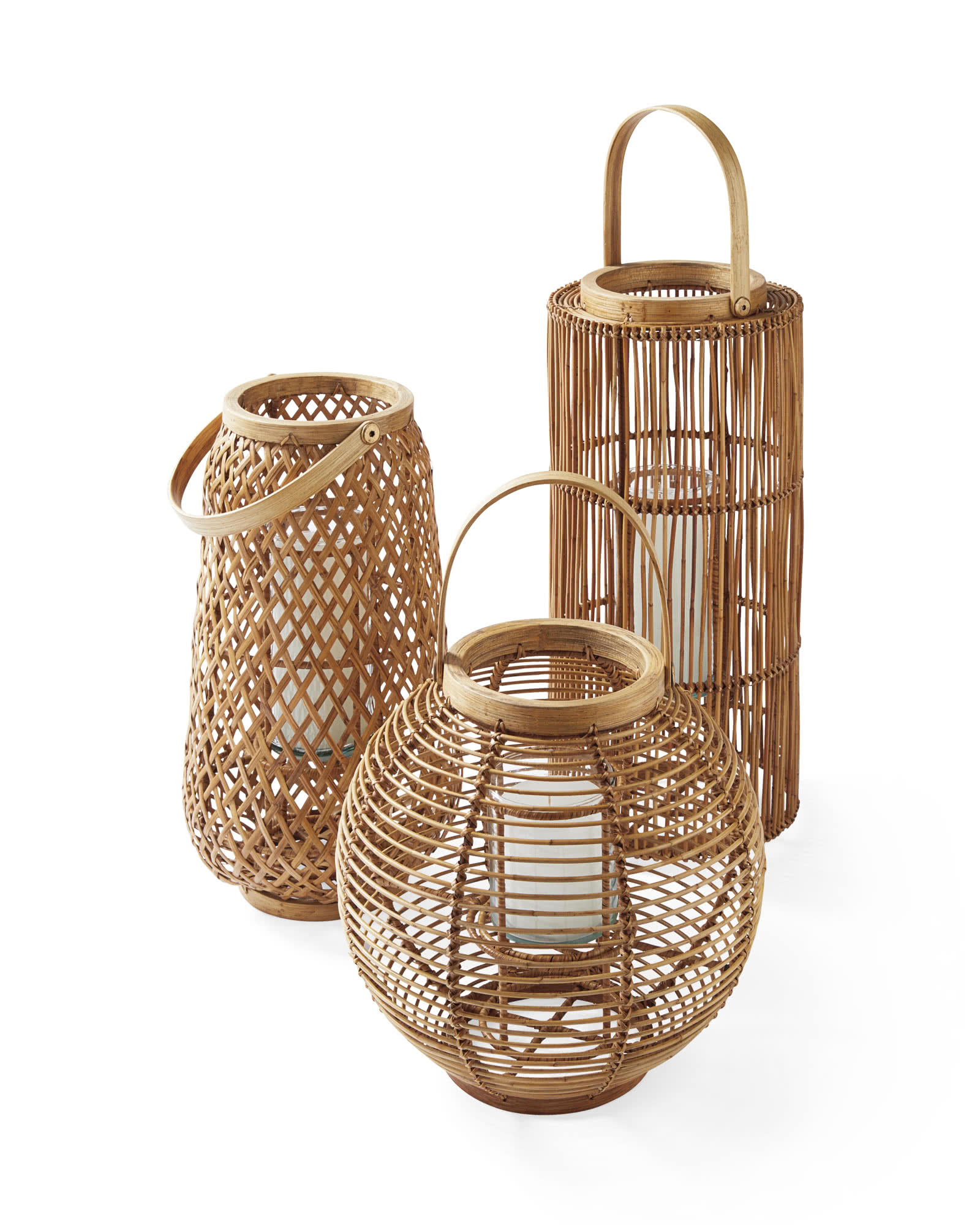 This trio of woven lanterns are perfect for the last outdoor dinners of summer and are one of Sharp + Grey Interiors September Favorites.