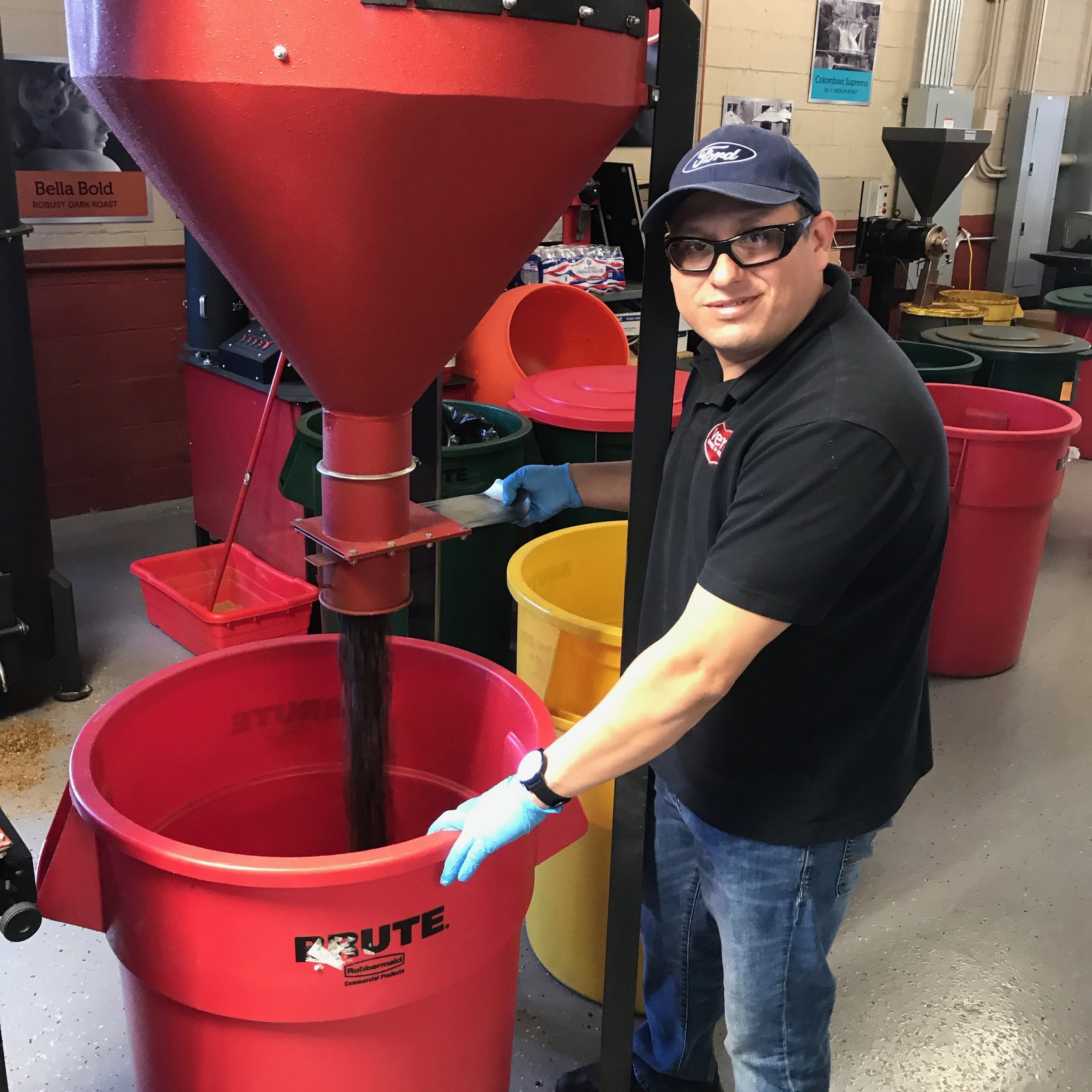 Vicente Villafuerte - Coffee Operations ManagerVicente has forged his path in the food industry through hard work and determination. He began his career over 15 years ago working in food delivery. He joined the Alamode Foods team 5 years ago, and he is currently our coffee operations manager. Vicente is responsible for machine maintenance, packaging, receiving, delivering, and invoicing. His favorite parts of his work day are experimenting with new coffee flavors, learning more about the industry, and meeting new people. Outside of the office, Vicente spends his time listening to music and working on cars.Favorite Coffee: Colombian