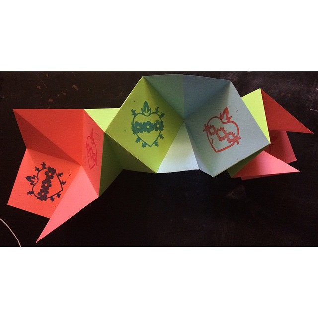 Sacred Heart / Immaculate Heart star-fold book