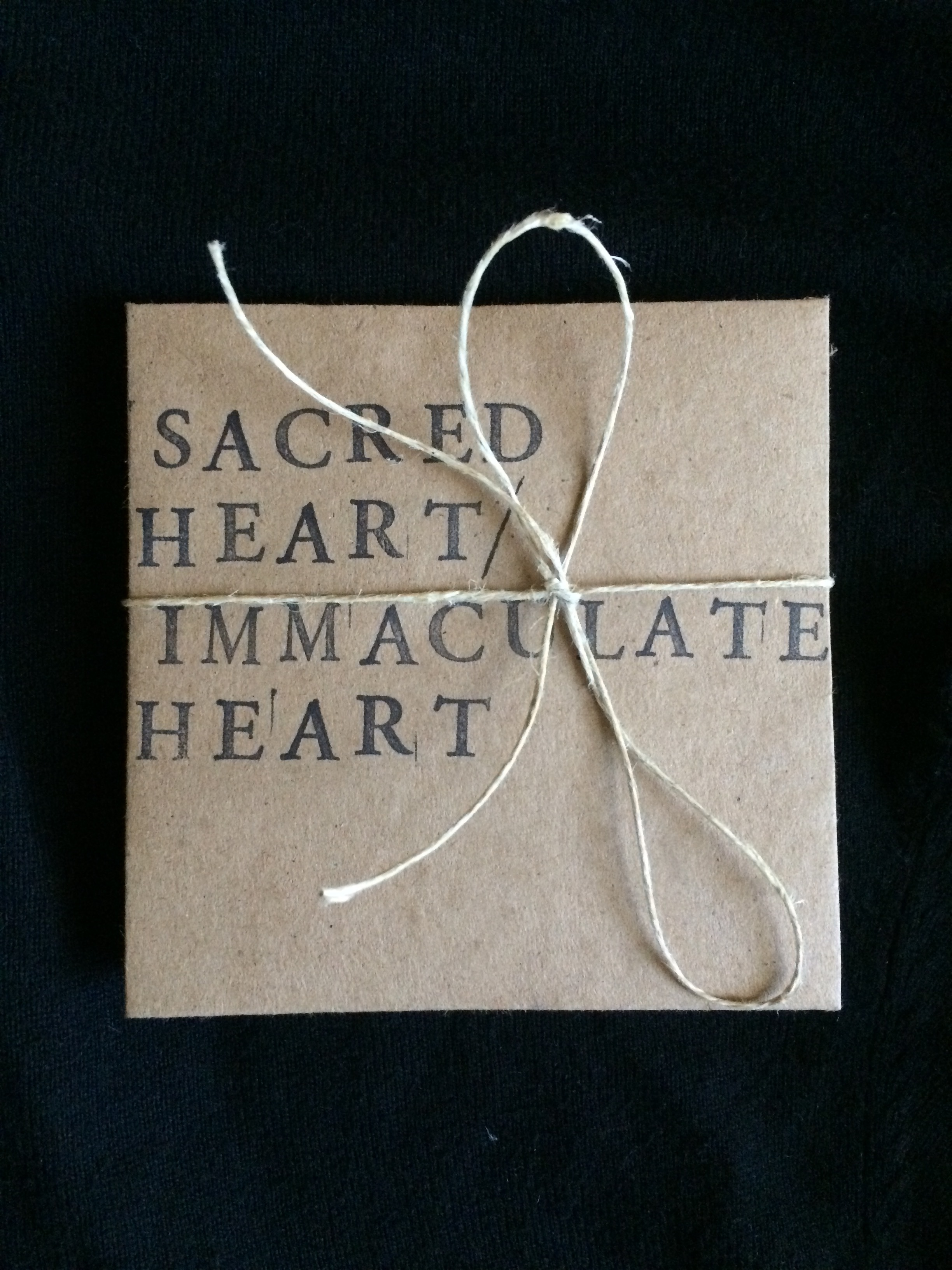 Sacred Heart / Immaculate Heart star-fold book (cover)