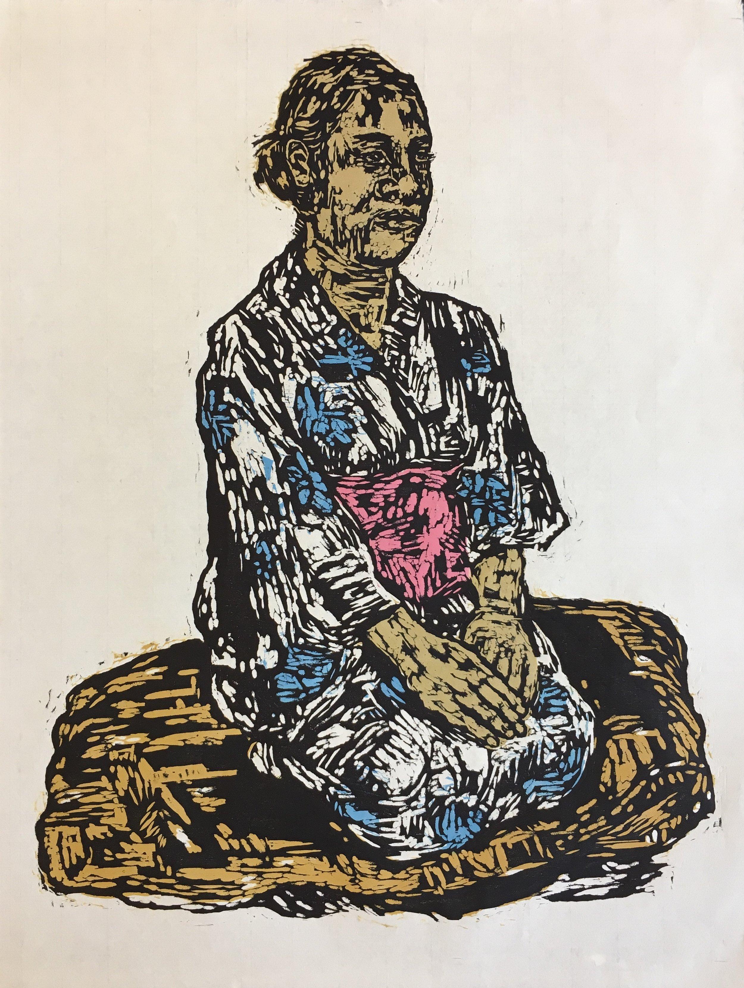 Wakako in Her Kimono