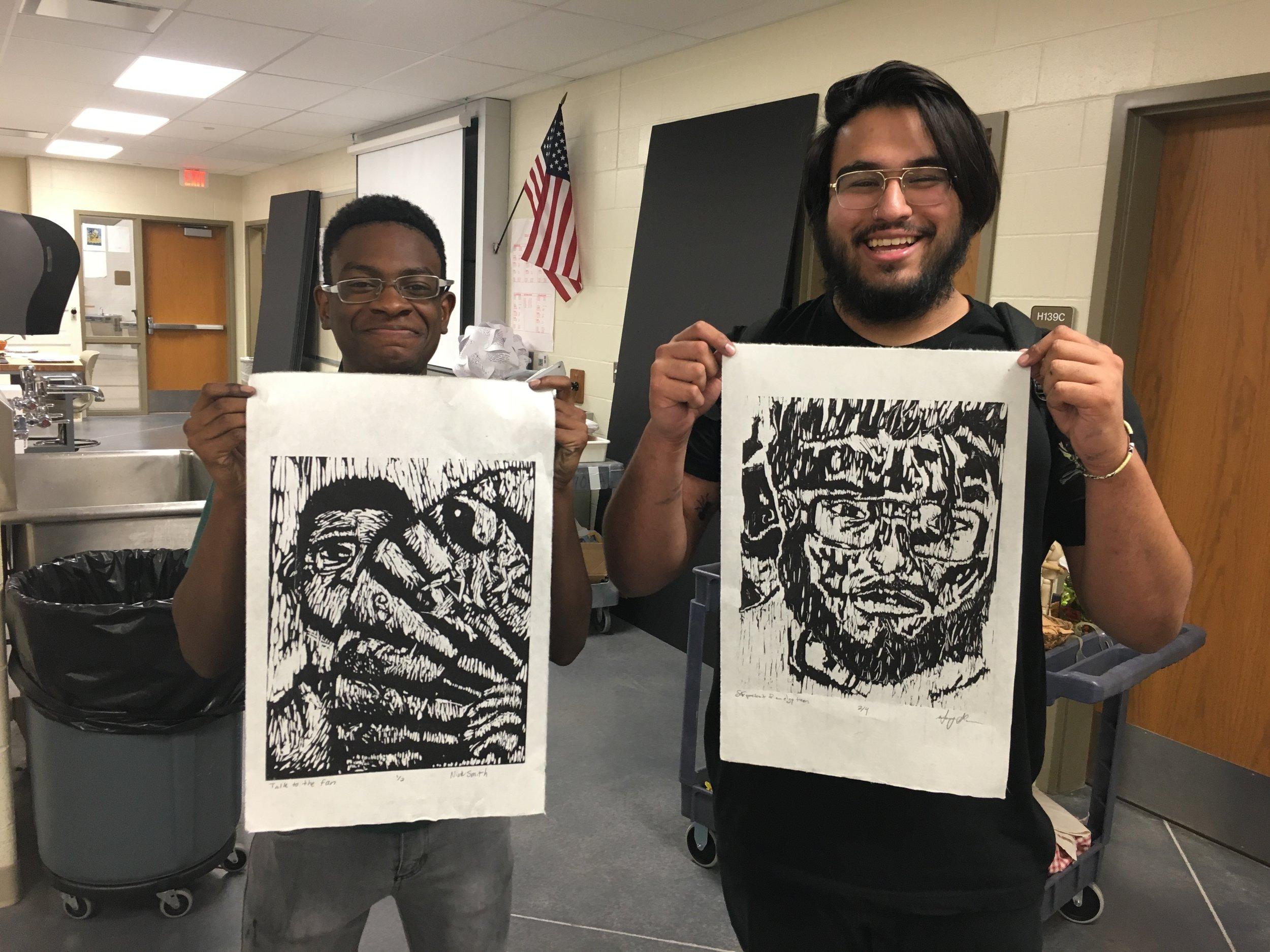 Nick & Manny self-portraits