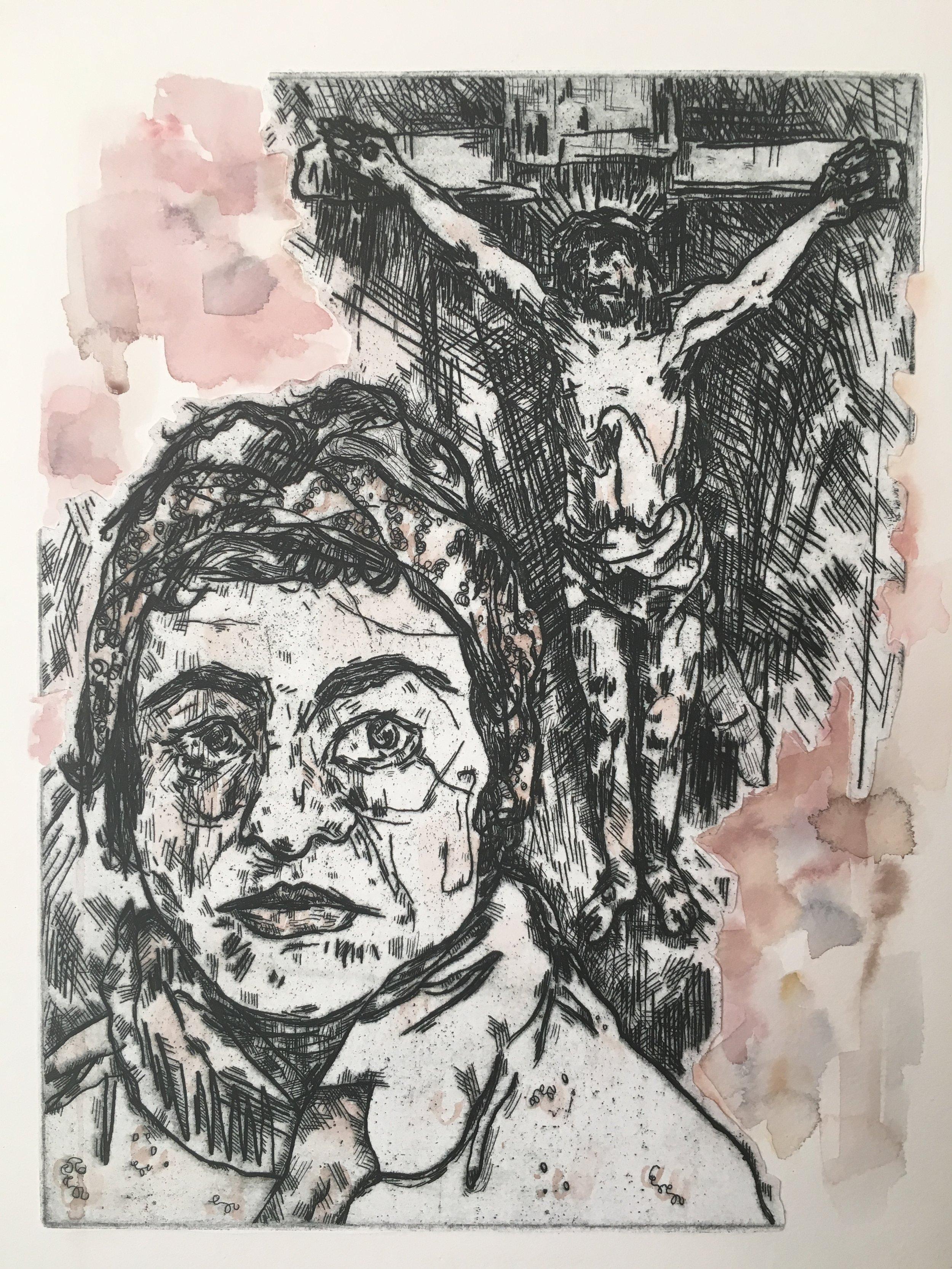 "Meditating on Rembrandt's ""Three Crosses"" / Danbury, CT"