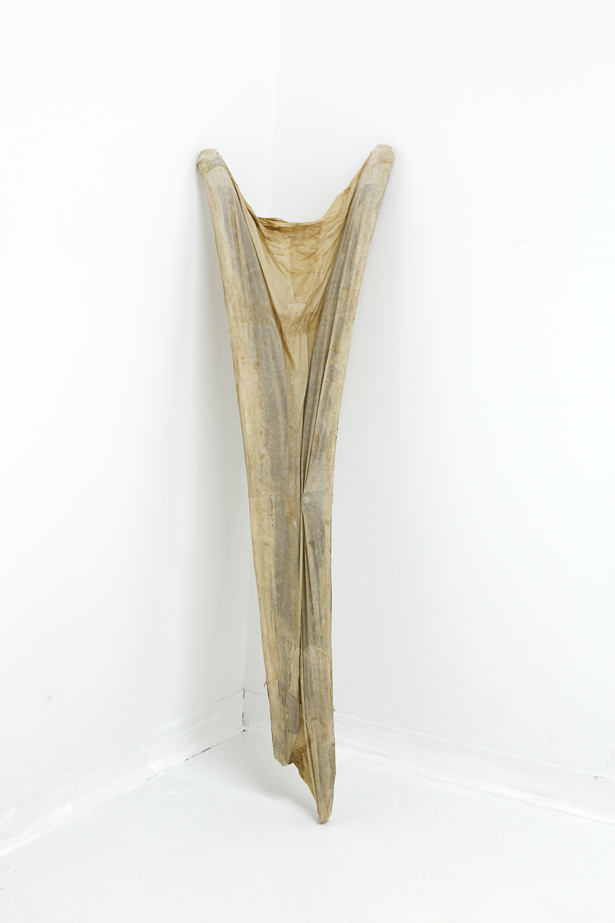 "flax, abaca, found wooden chair  39""x12""x3""  2019"