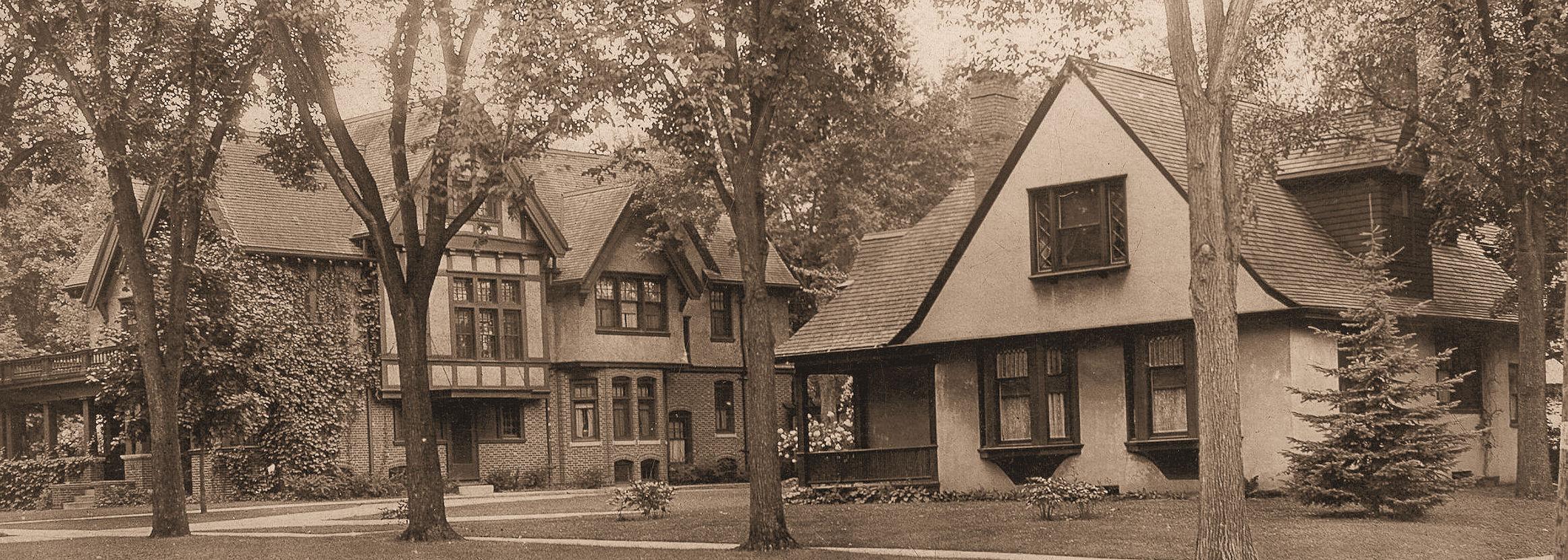 Jane Van Orden cottage 1897, at right