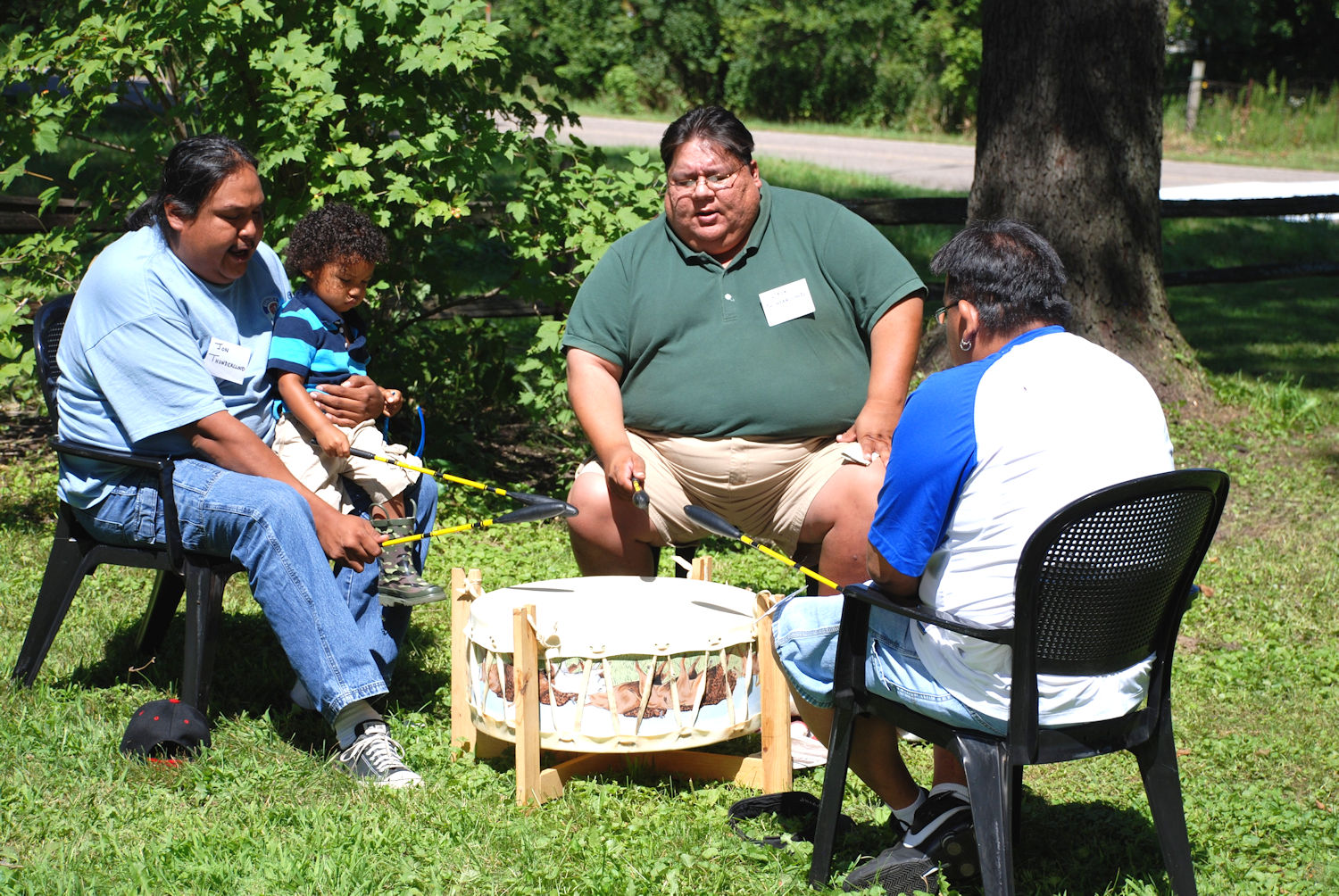 Ho-Chunk Thundercloud Singers opened and closed the day's events
