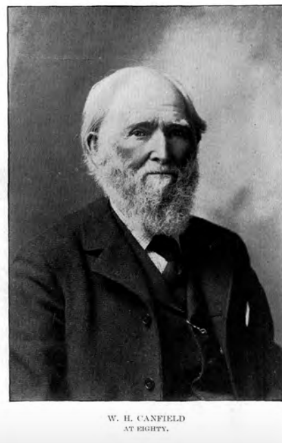 Canfield at age 80 in 1899.