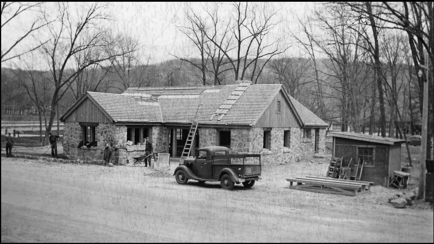 A park administrative office located near the North Shore, was built by the CCC in 1939.