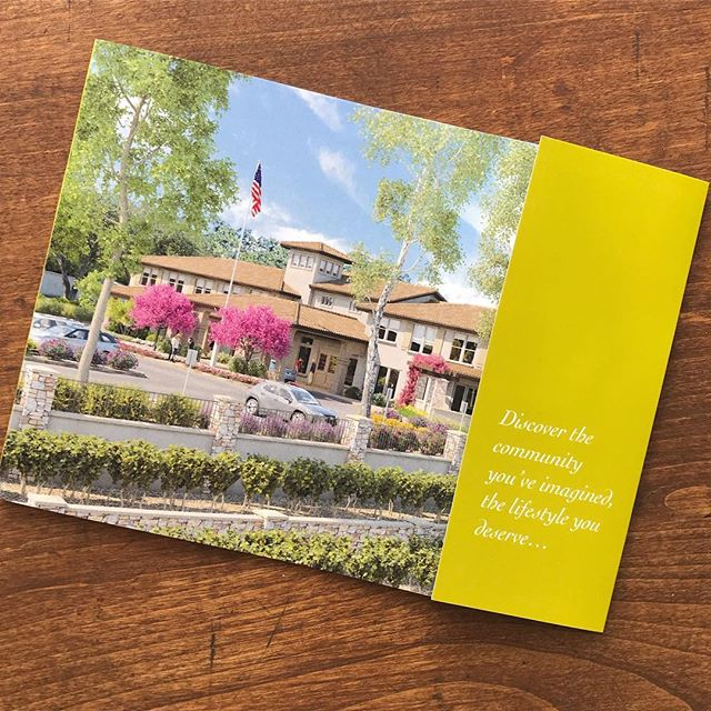 "Who says brochures have to be the standard 8.5x11"" trifold? We love this custom format for a local #sonomacounty business."