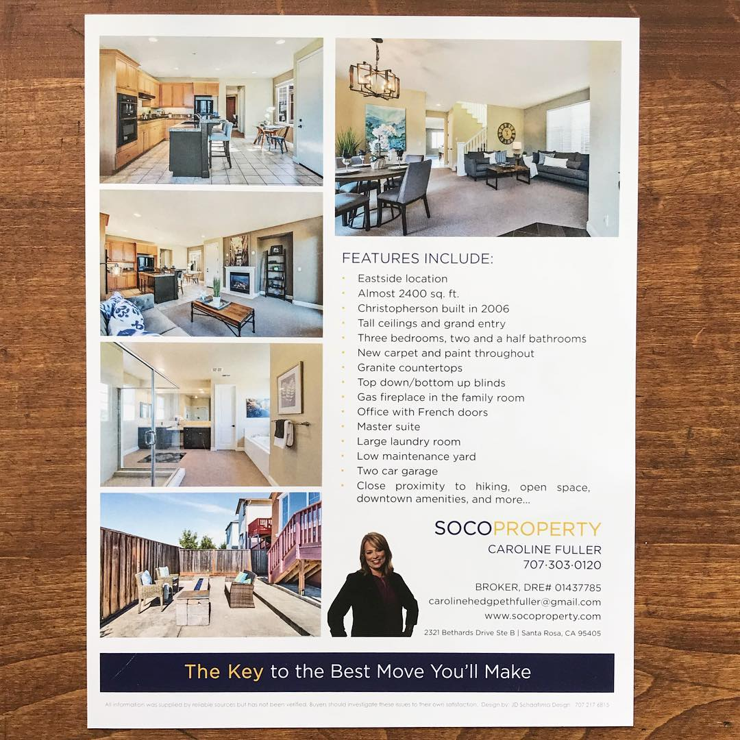 santa rosa printing - real estate flyer