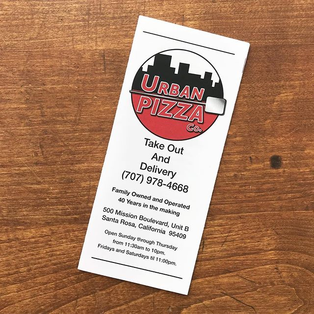 Pizza-o'clock 🤤🍕@urbanpizzaco menus have us craving a slice or two!