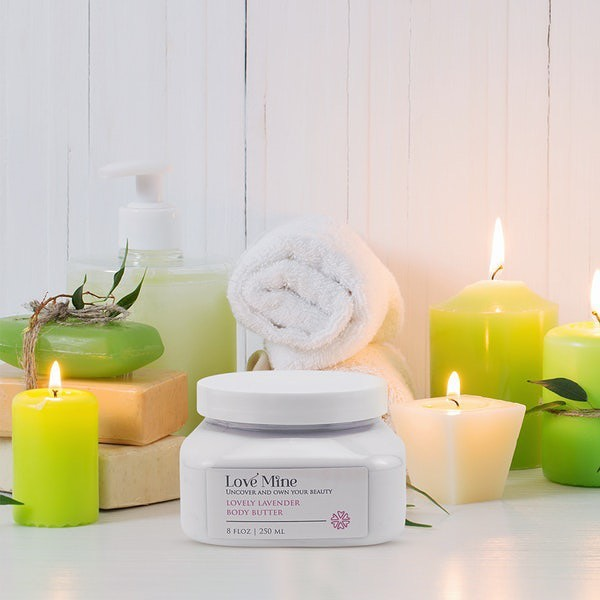 Indulge your senses in the soothing scents of lavender while shea, avocado, and coconut butters deeply nourish your skin. 💜 Leave the worries of sticky and greasiness aside with this rejuvenating, restorative formula. Light a candle, set your intentions, and let your skin drink in the benefits of your Lovely Lavender Body Butter. #LoveMineSkincare #LoveMine #naturalskincareproducts #intentions #createcultivate #sheabutter #avocadobutter #coconutbutter #coconuts #candlelover #sparkjoy #intentionally #intentional #manifestation #beautifully