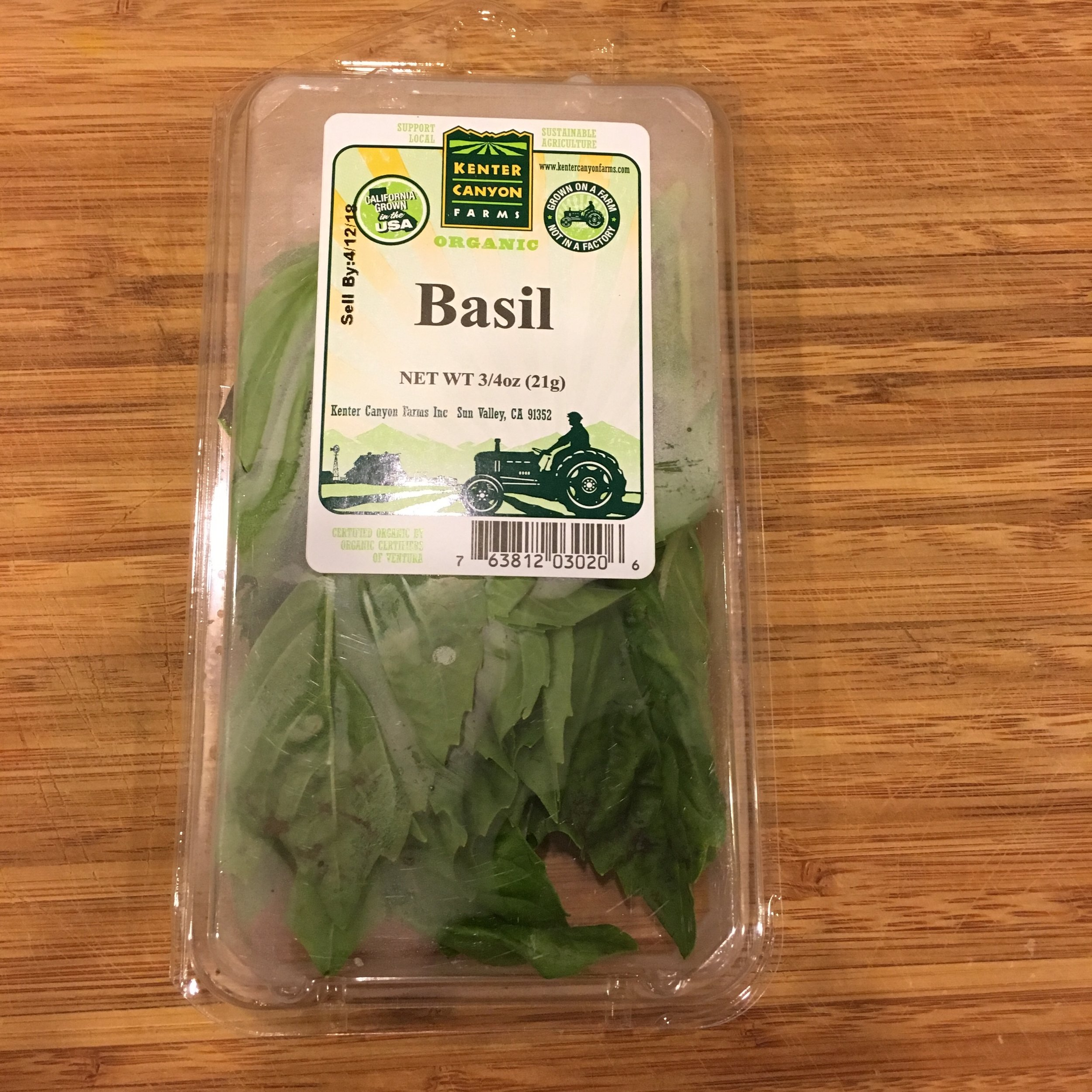 Basil Container Size