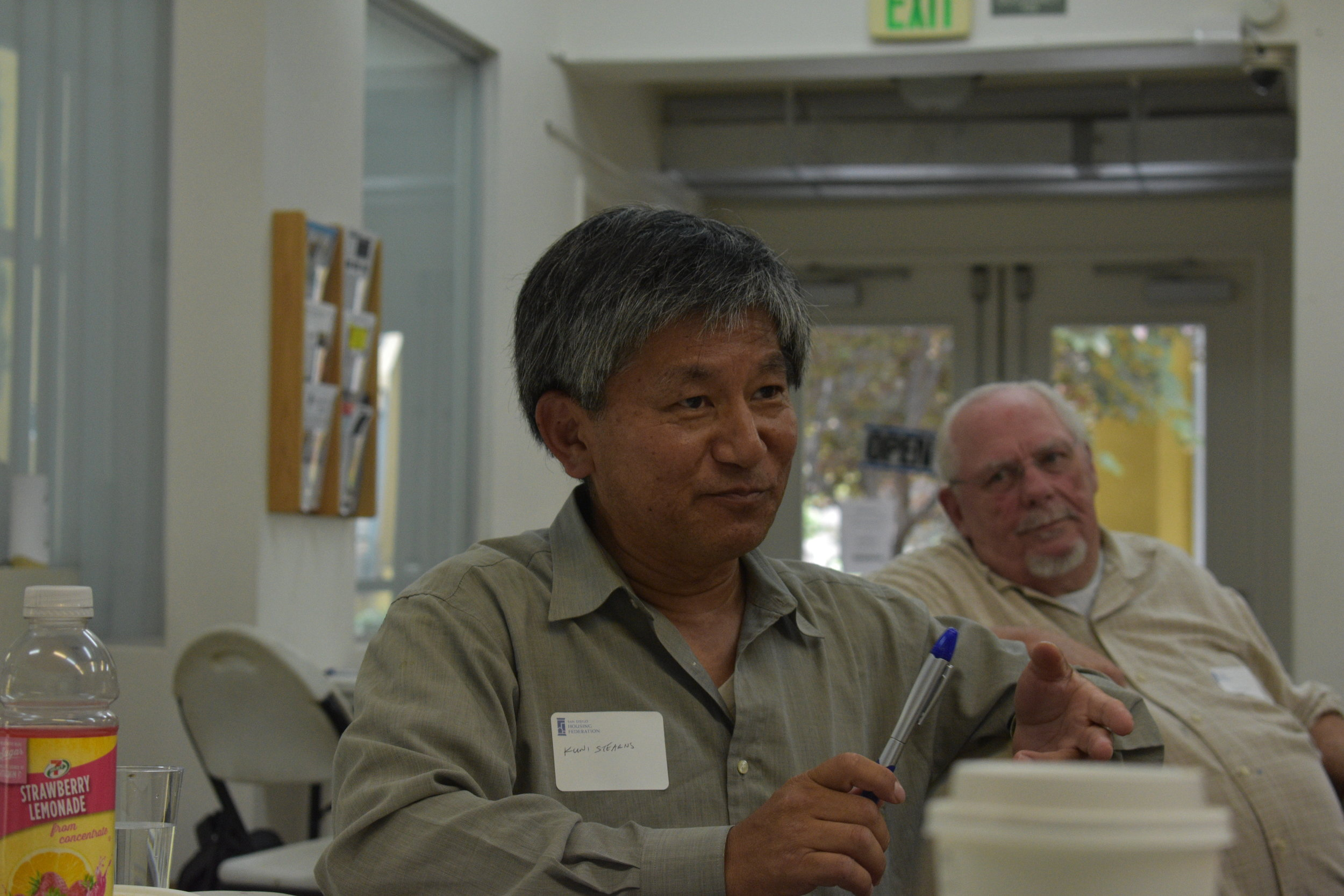Kuni Stearns at Story-telling Training 2019