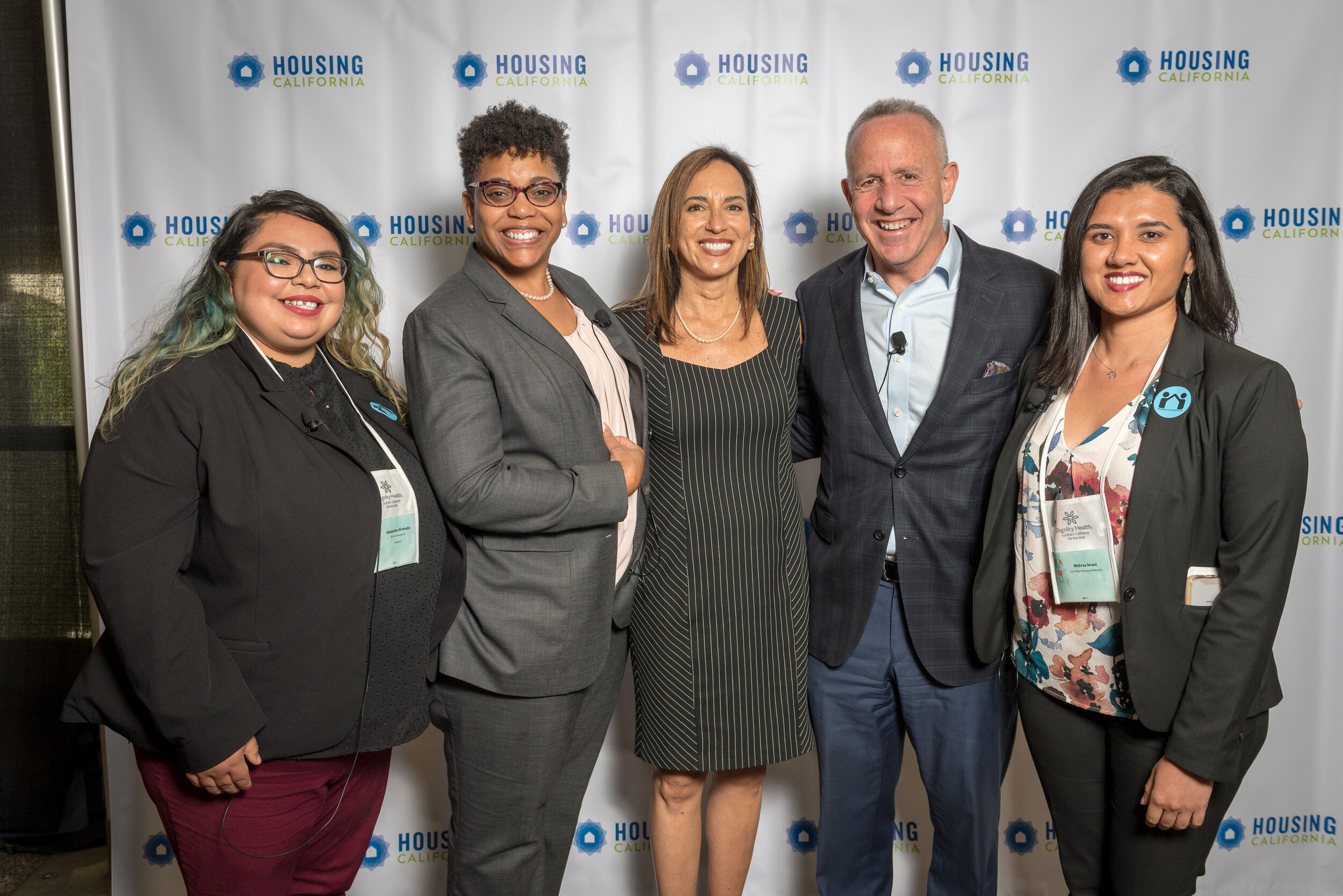 Mehrsa Imani with keynote speakers at Housing California Conference, April 2019.