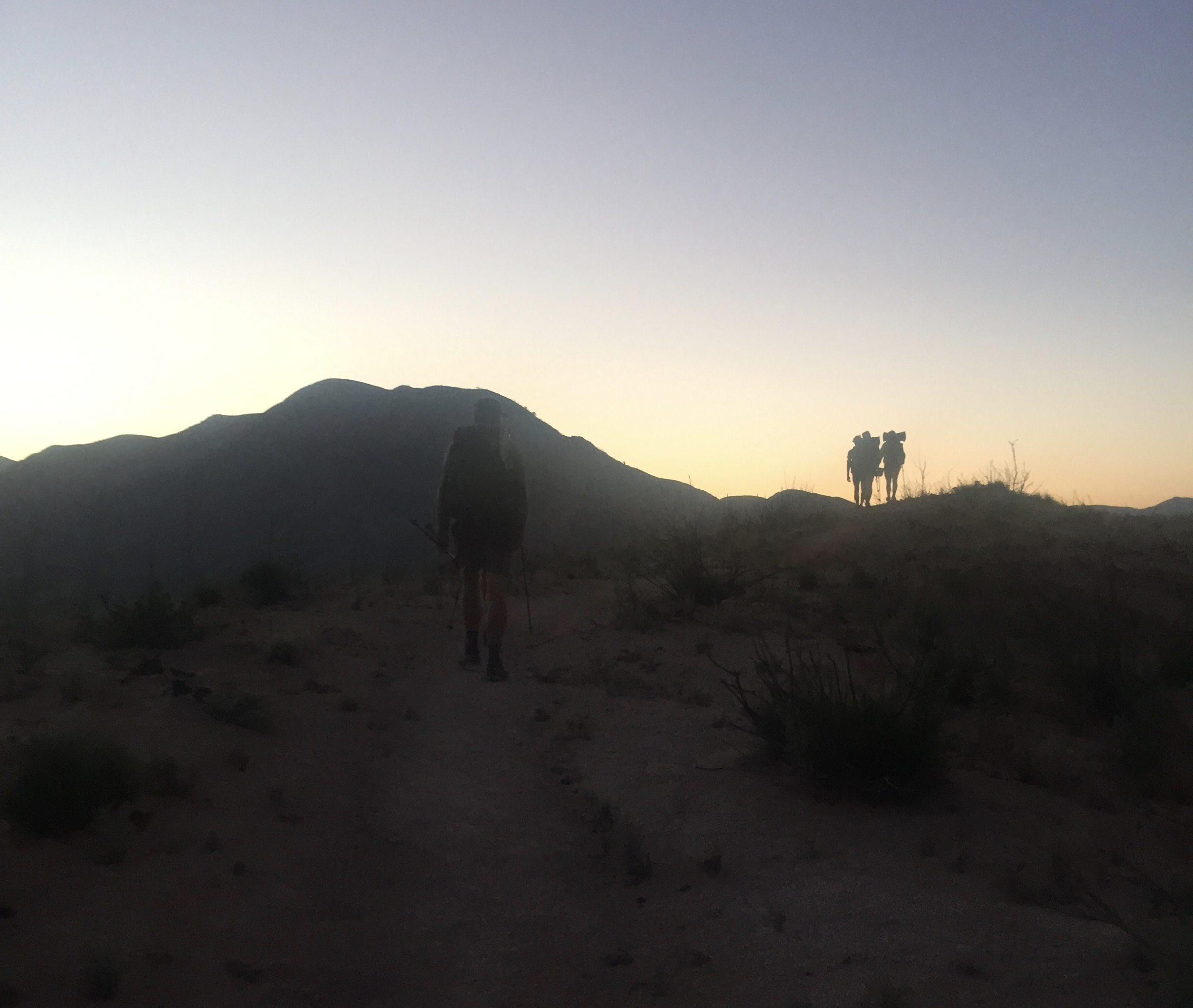 Downside to night hiking is that there isn't a lot of time for pictures.