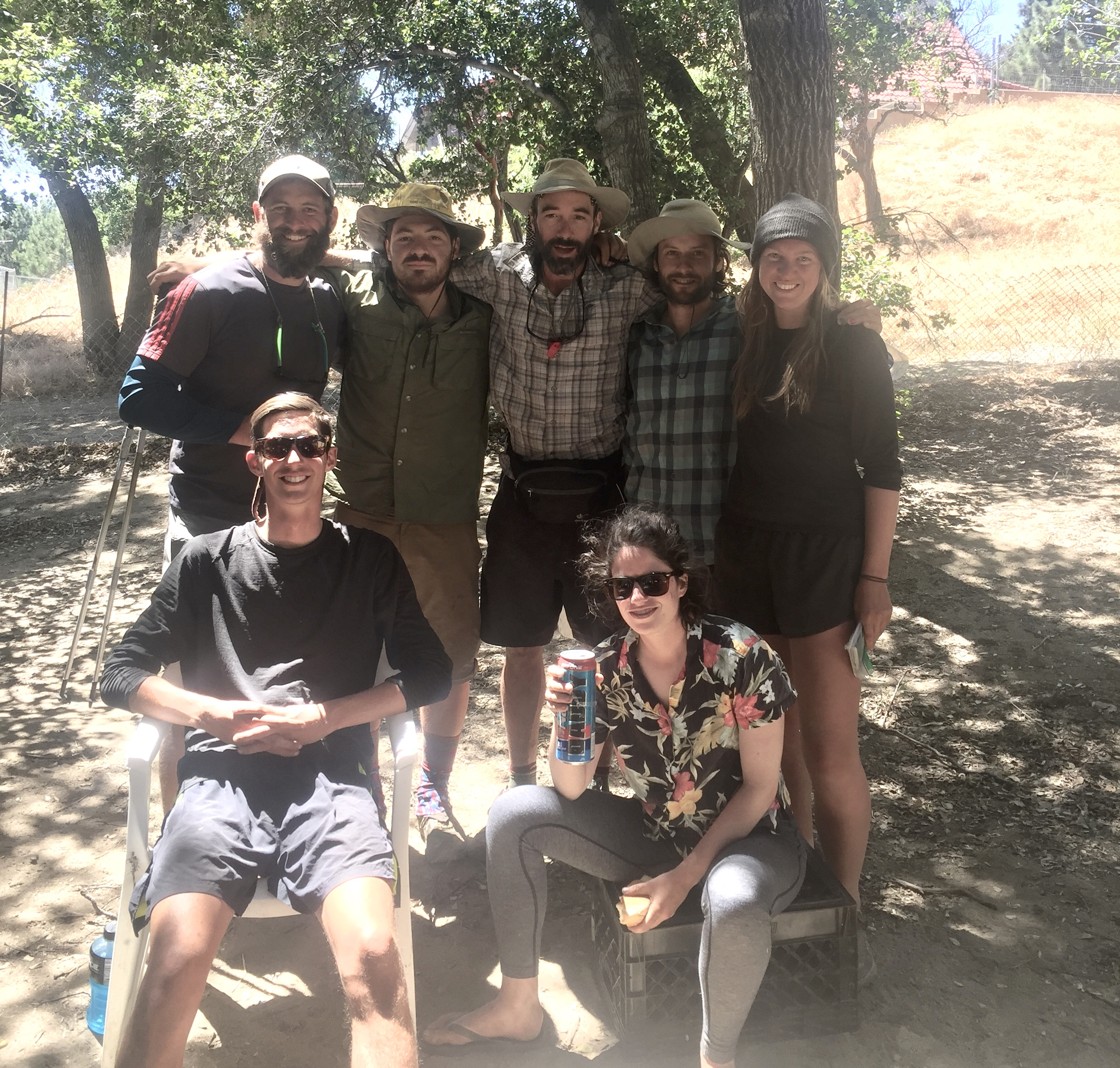 Desert family portrait, missing Brian who's heading back to SF and One 11 who stayed an extra night at Agua Dulce