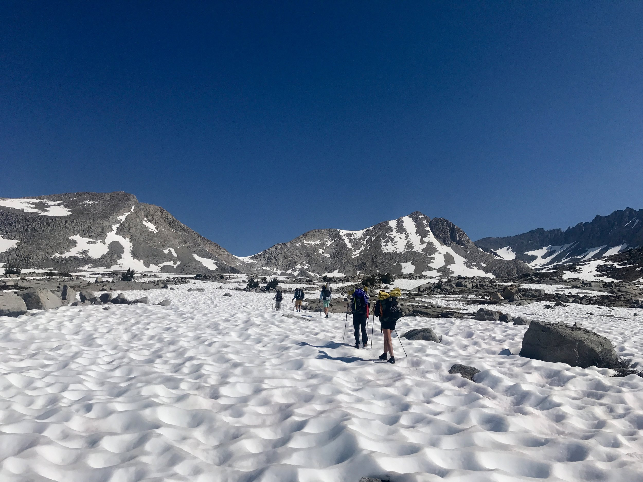 Squad making our way towards Mather pass