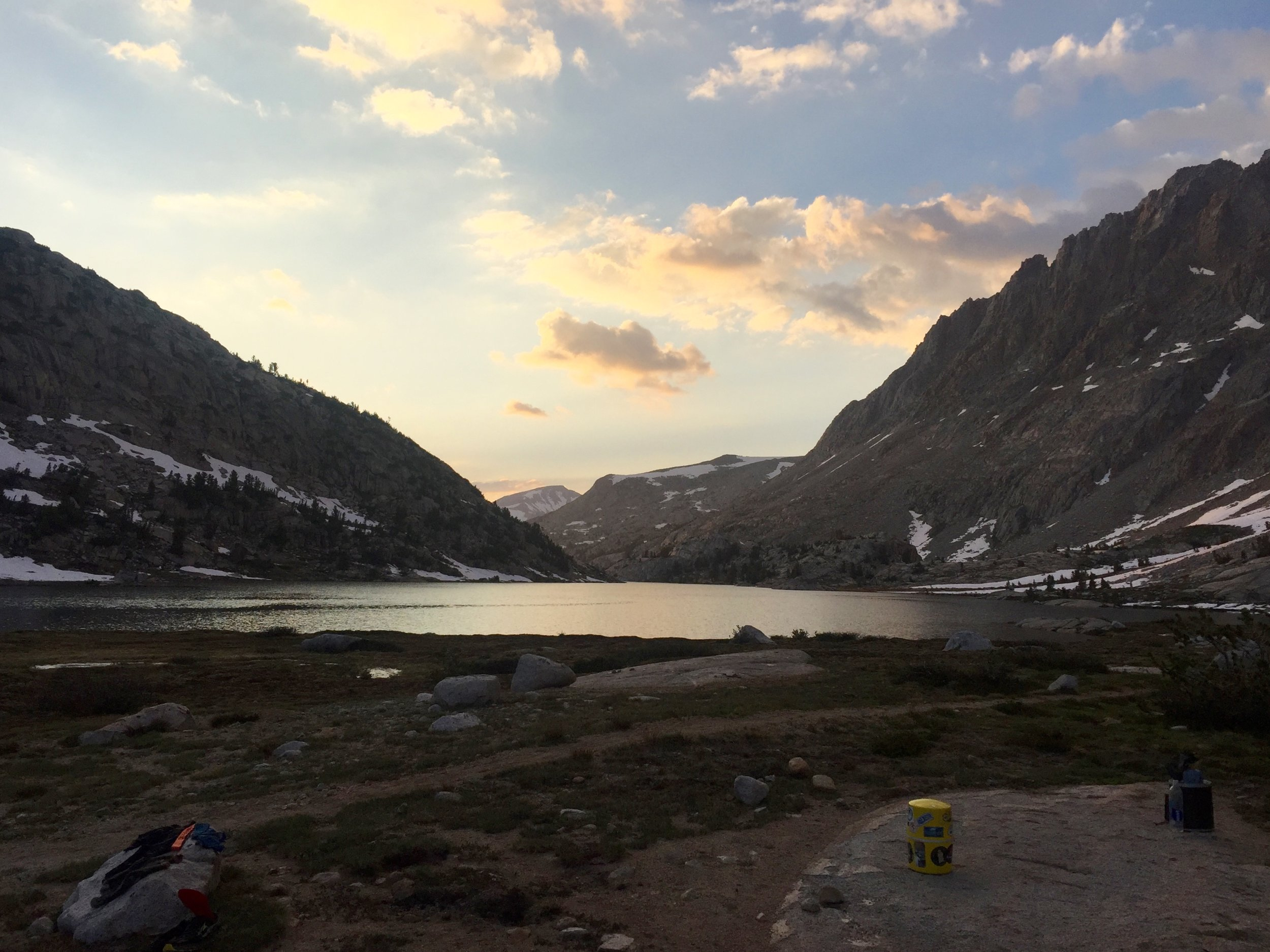 Evolution Lake...coldest but one the most scenic campsites.