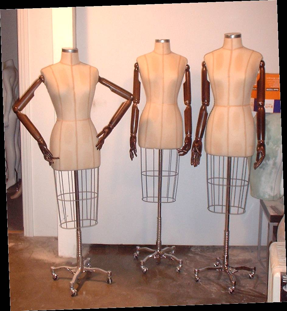 Dressmaker Forms with Wood Articulated Arms