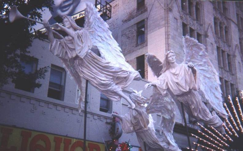 Flying Angels for a Float