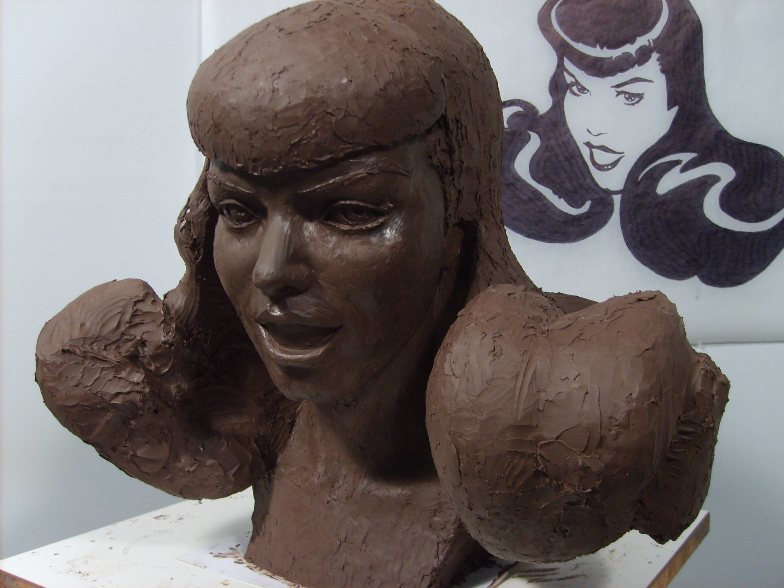 Creating Bettie Page Logo Mannequin