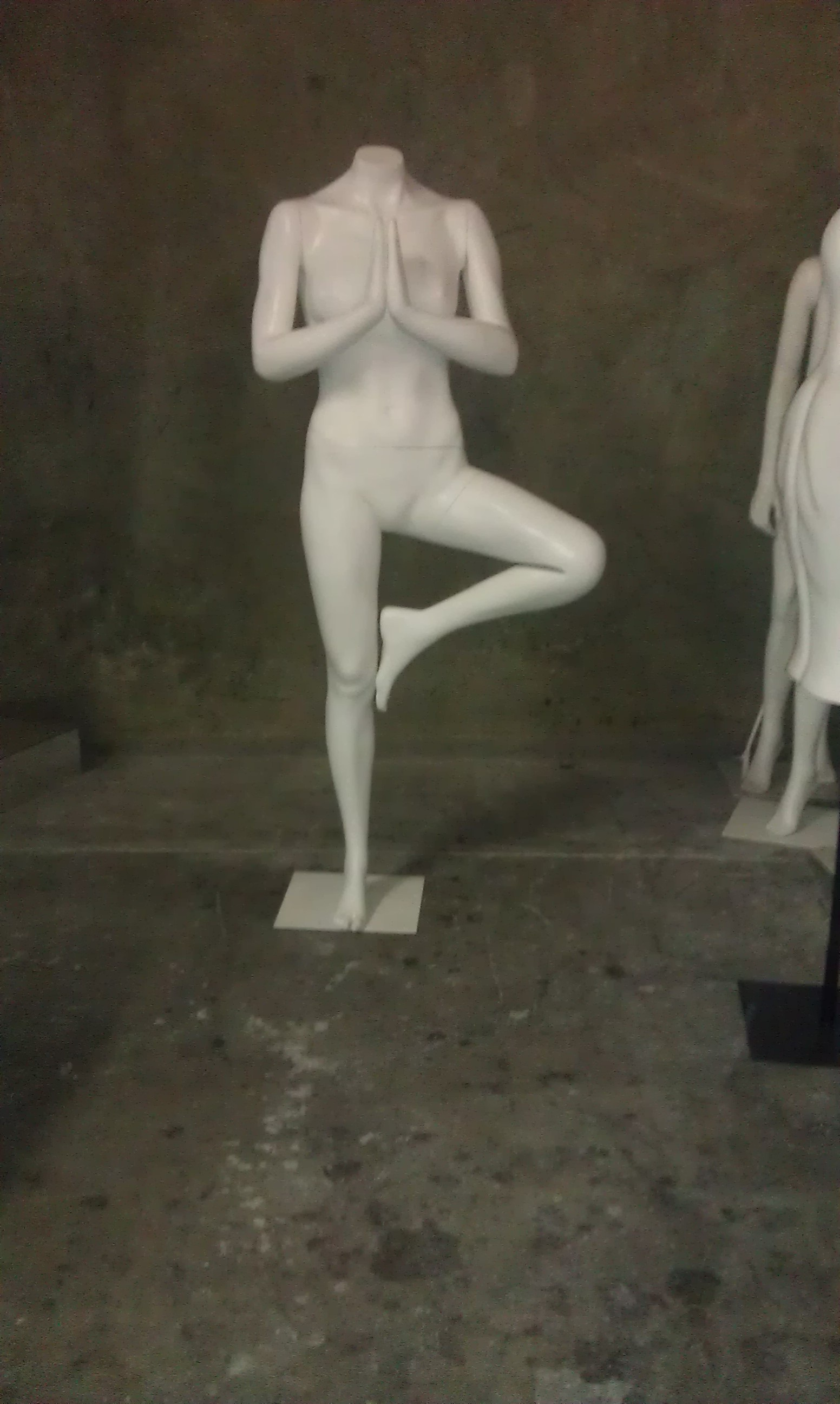 Front view of custom posed mannequin