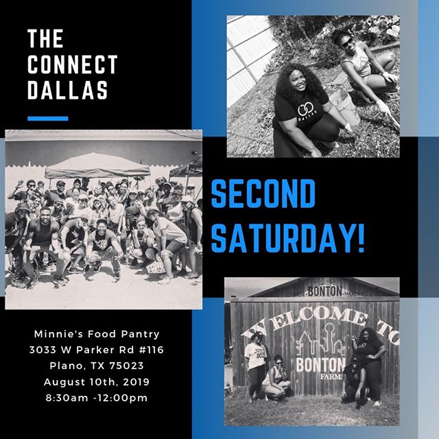The Connect Dallas is partnering with Minnie's Food Pantry this month! Joins us for Second Saturday. A day for giving back while coming together...All volunteers should arrive at 8:30AM!  Link in bio for more information.  #ConnectintheCommunity #TheConnectDallas  #connected #dallas #networking #blackness #blogger #influencers #blog #social #blackprofessionals #culture #blackexcellence #socialize #blackdallas #givingback #communityservice #dallasevents