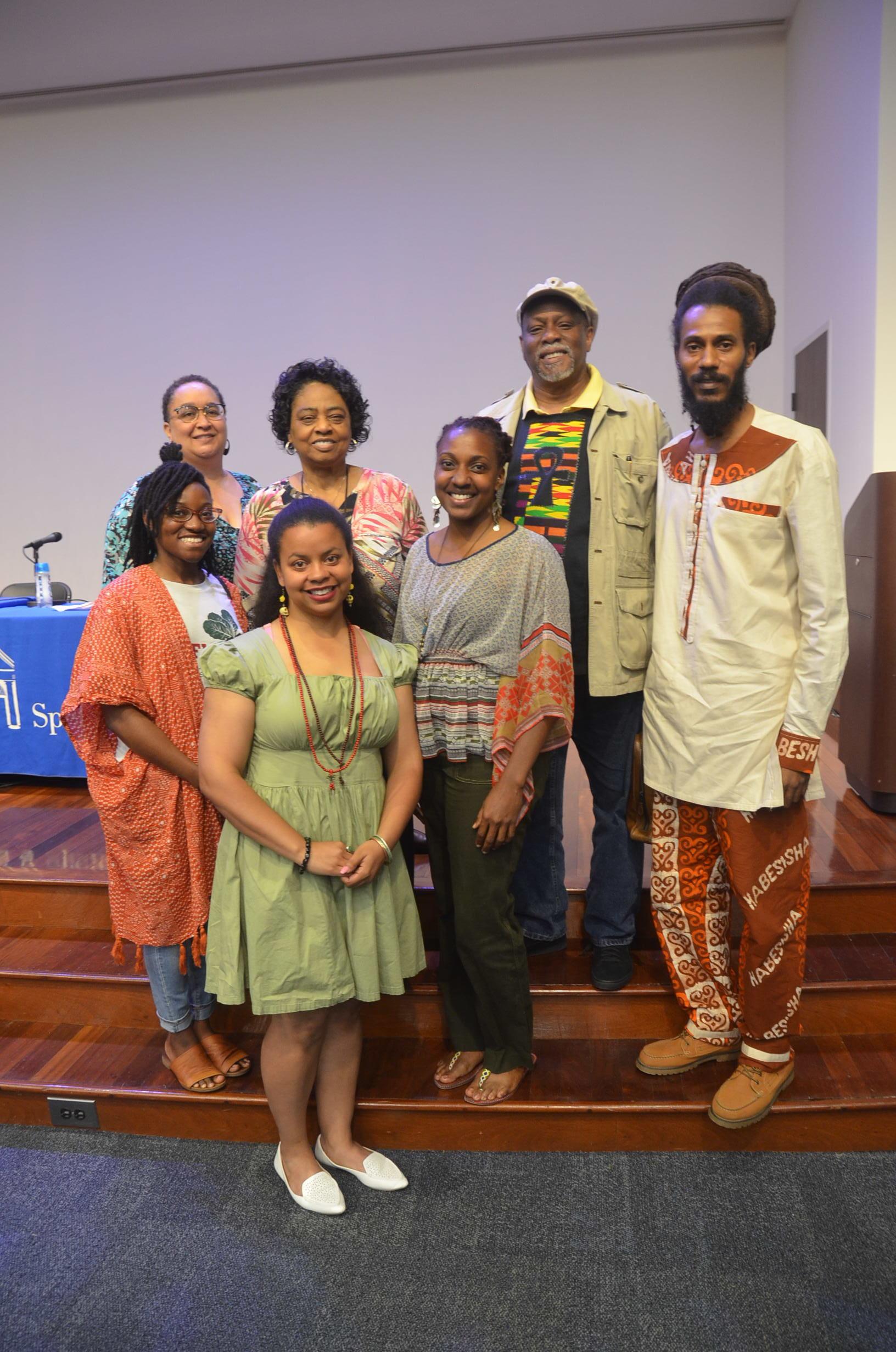Whitney with Keisha, Mama Shirley, Rashid, Cashawn, and Jilo.