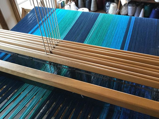 Finally. Finished dressing the loom