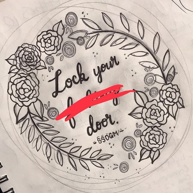Language warning - swipe for the full text! Artistic slumps are tough, usually I try to work through them, but sometimes I just need to step back and work on something else. So here we are! Started sketching a new hoop featuring a quote from one of my favorite podcasts, @myfavoritemurder and now that I know you can bring sewing needles on a plane, I'm gonna be goshdang unstoppable #ssdgm